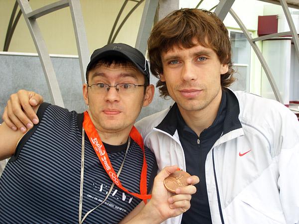 С Владом и олимпийской медалью